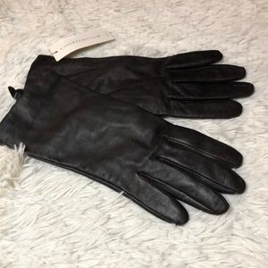 Women's leather and cashmere gloves size 8